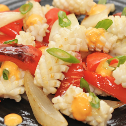 Wok Fried Squid with Vegetables