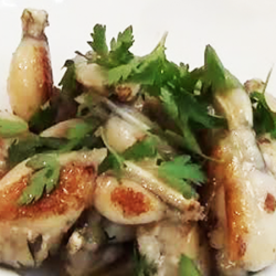 Honey, Garlic and Thyme Glazed Frog Legs